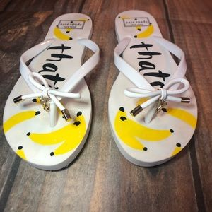Kate Spade That's Bananas Flip Flops Size 8